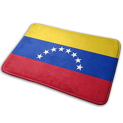 N\A Flagge von Venezuela Gedruckt Willkommen Türmatte Indoor Outdoor Eingang Teppich Fußmatten Schuhschaber Matte für Küche Badezimmerböden