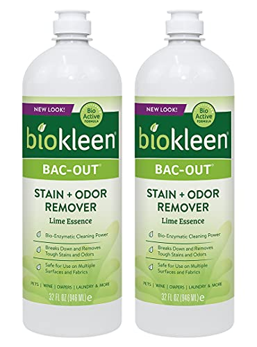 Biokleen Bac-Out Stain Remover for Clothes - 2 Pack - Enzymatic, for Laundry, Diapers, Wine,...