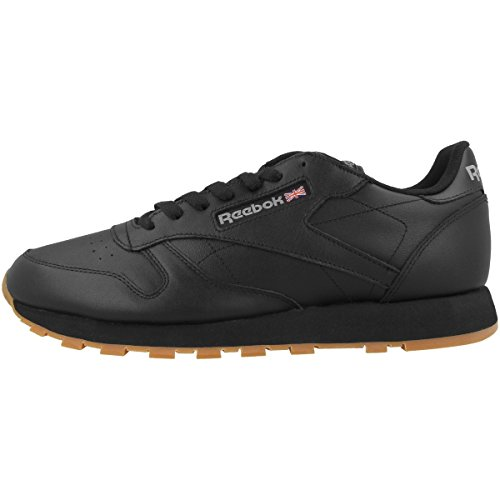 Reebok Classic Leather, Scarpe da Ginnastica Uomo, Nero (Black/Gum), 41