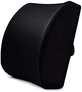 Memory Foam Lumbar Cushion, Back Support Pillow, Protect Back and Improve Posture, with Adjustable Strap