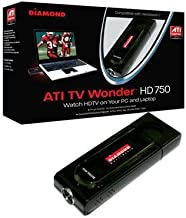 Diamond Multimedia TV Wonder 750 USB TV Tuner. DIAMOND TV WONDER 750 USB HD NTSC PAL SECAM TV TUNER TUNER. USB - PAL, ATSC, SECAM, DVB, NTSC
