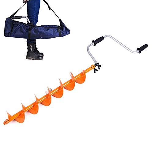 Handbohrmaschine Ice Erdbohrer,Falten Pistole Bit Eisbohrer,Hand Handbohrer, Redrills Alte Löcher Leicht Extrem, Bohrerdurchmesser: 12,5 Cm