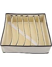 FTVOGUE Organizador Plegable de Cajones Caja de Almacenamiento de Divisor Duradero Caja Contenedor para Sujetador Ropa Interior Calcetín(7Grids)