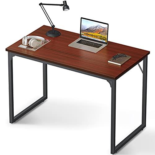 Coleshome Computer Desk 39', Modern Simple Style Desk for Home Office, Sturdy Writing Desk,Teak