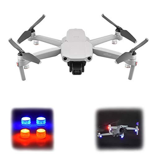 O'woda 4 PCS Drone LED Luci notturne di Segnalazione di Volo Flying Light Lampada per Allarme per DJI Mavic Air 2S/Mini 2 /Mini/Mavic 2/PRO/Spark/Mini SE Accessori (Luci Rosse e Blu Sempre accese)