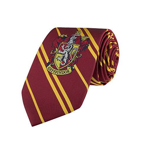 Cinereplicas Harry Potter - Corbata Gryffindor Tejida para Adultos - Oficial Auténtico