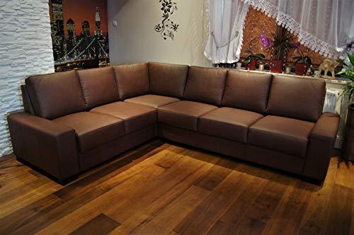 Quattro Meble Echtleder Ecksofa California 216x272cm Ledersofa Echt Leder Eck Couch große Farbauswahl !!!
