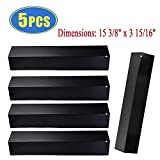 Bigbox Set of 5 Heat Plate Shields for Brinkmann 810-3660-S, 810-2511-S, 810-2512-S Grill Replacement Parts, 15 3/8' Porcelain Steel Gas Grill Heat Tent Flame Tamer Replacement for Uniflame, Aussie.