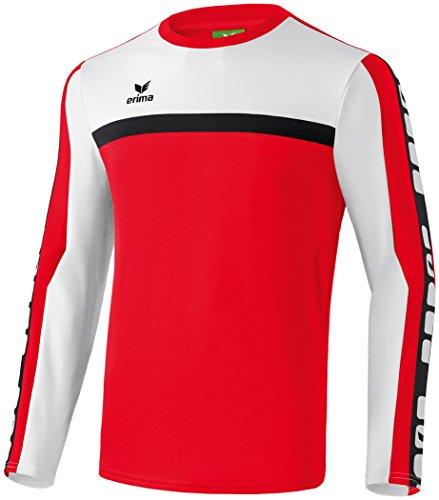 Erima Herren 5-CUBES Teamline Funktionssweat, rot/weiß/schwarz, XXL
