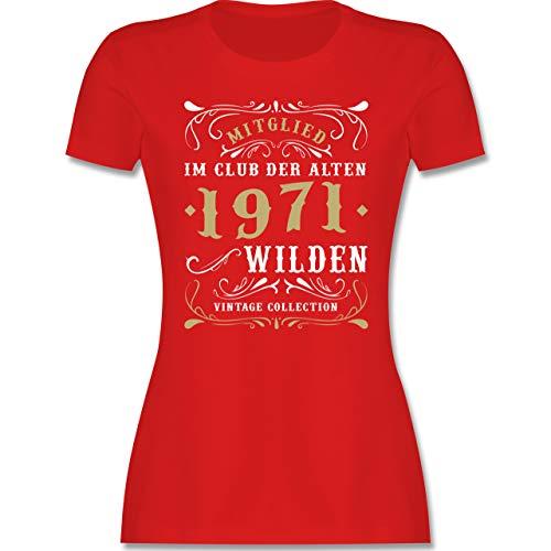 Geburtstag - Mitglied im Club der Alten Wilden 1971 - L - Rot - Tshirt 50. Damen - L191 - Tailliertes Tshirt für Damen und Frauen T-Shirt