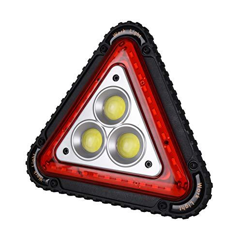 Wolfteeth Triángulo de advertencia LED luz de trabajo coche carretera emergencia lámpara USB recargable 4 modos