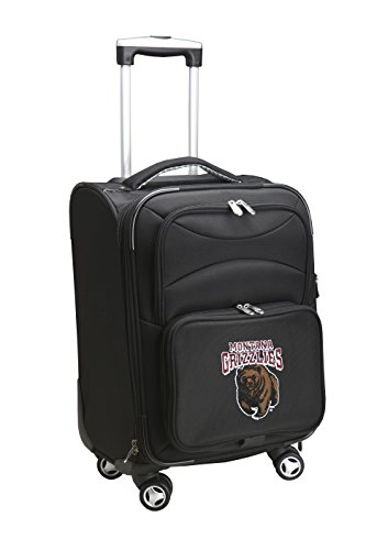 Denco NCAA Montana Grizzlies Domestic Carry-On Spinner, 20-Inch, Black