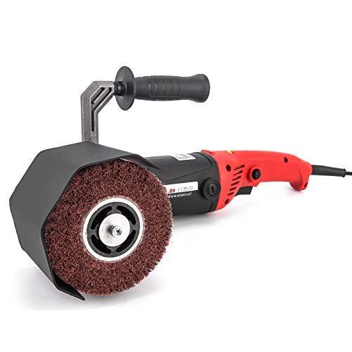 Mophorn 1200 Watt Schleifroller Poliermaschine 120x100mm Durchmesser Schleifmaschiene Burnishing Polishing Machine 600-3000 rpm (1200 Watt 3000 rpm)