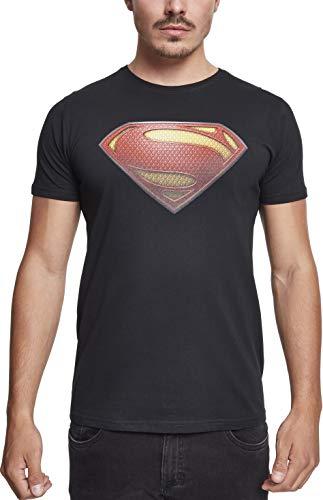 MERCHCODE Herren JL Superman Tee T-Shirt, Black, M