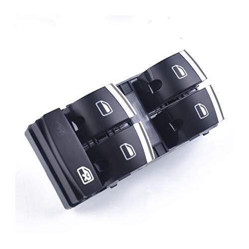 DAFALI Greatly Store Interruptor de Ventana Maestra de Chrome Fit para Audi A3 8P A4 S4 RS4 B6 B7 A6 S6 RS6 C6 Q7 4F0959851H