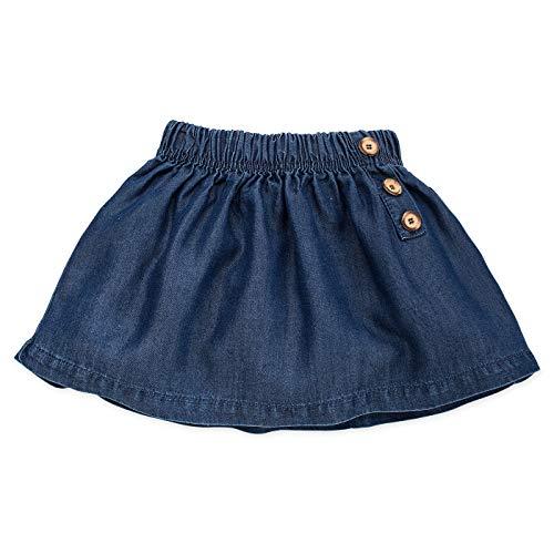 Pinokio - Petit Lou - baby rok meisjes - jeansrok donkerblauw - rokje voor meisjes - skirt licht voor de lente/zomer