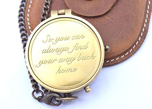 NEOVIVID NEOVID Camping-Kompass mit Gravur So You Can Always Find Your Way Back Home, Geschenk Kompass für Weihnachten