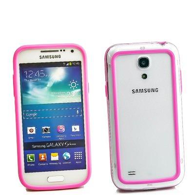 Samsung Galaxy S4 Mini Bumper, Hülle Cover Slim Case [Silikon TPU Rahmen] Stoßfeste Handyhülle für Samsung Galaxy S4 Mini (i9190) Schutzhülle [Rosa]
