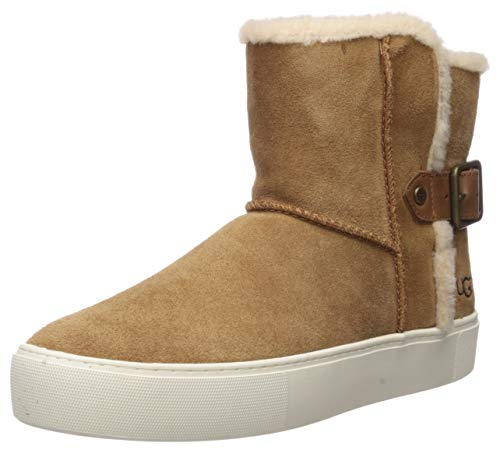 UGG Women's AIKA Ankle Boot, Chestnut Suede, 6 M US