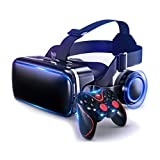 HJSW VR Headsets Virtual Reality Headset VR Goggles Glasses for 3D VR Movies Video Games for iPhone 12/Pro/Max/Mini/11/X/Xs/8/7 for Samsung & Android Phones, W/4.7-6.8in, Z083MK
