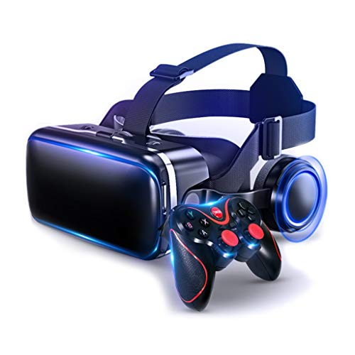 VR Headsets Virtual Reality Headset VR Goggles Glasses for 3D VR Movies Video Games for iPhone 12/Pro/Max/Mini/11/X/Xs/8/7 for Samsung & Android Phones, W/4.7-6.8in, Z083MK