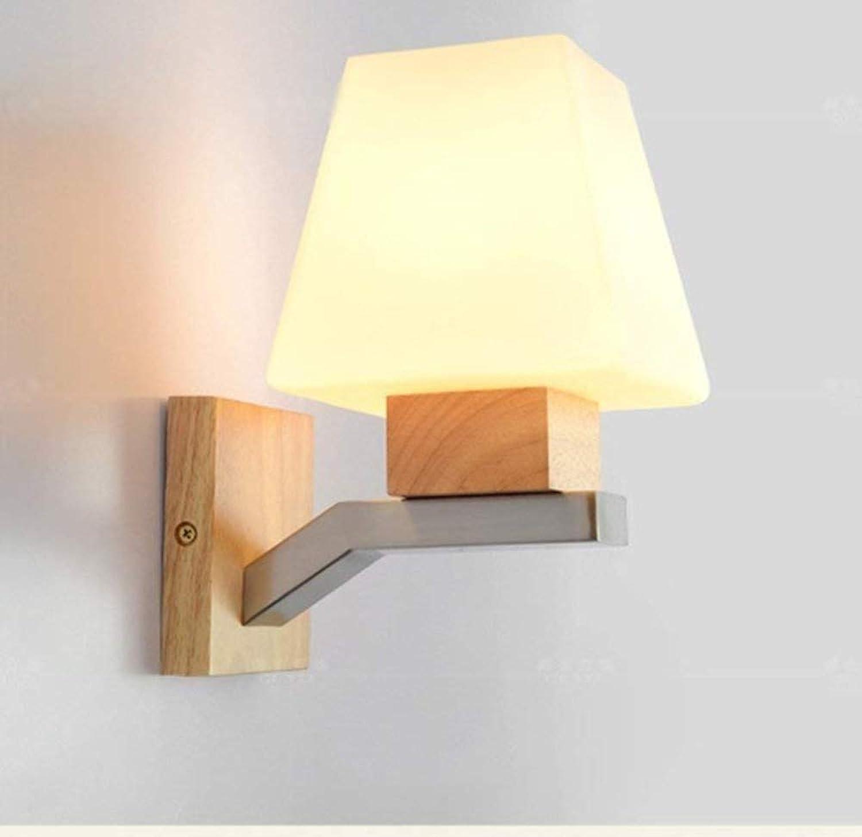 Kreative Persnlichkeit Moderne Glas Nachttischlampe Milky Weiß Log Wandleuchte auswhlen