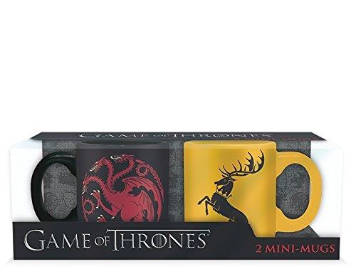 ABYstyle - GAME OF THRONES - Set 2 mini-Tazza - 110 ml - Targaryen e Baratheon