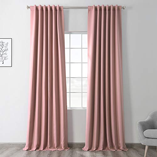 HPD Half Price Drapes BOCH-171518-108 Blackout Room Darkening Curtain (1 Panel), 50 X 108, Fresco Blush