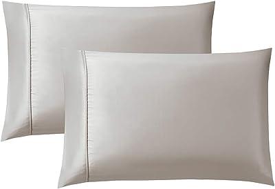 Bourina Envelope Closure Pillowcase, 2-Pack Pillow case, Queen 20×30 Inch Beige