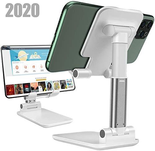スマホ スタンド ホルダー角度と高さ調整可能なスタンド滑り止め折りたたみ式電話スタンド便利充電タブレットPCスタンドデスクトップスタンドアルミ合金素材iPhone/iPad/Android/Nintendo Switch Lite/Kindleなど携帯電話