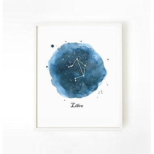 Libra Astrology Zodiac Sign Original Art Print