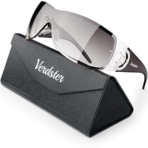 Verdster Cosmo Damen Sonnenbrille - Damen Designer-Sonnenbrille mit großen Gläsern