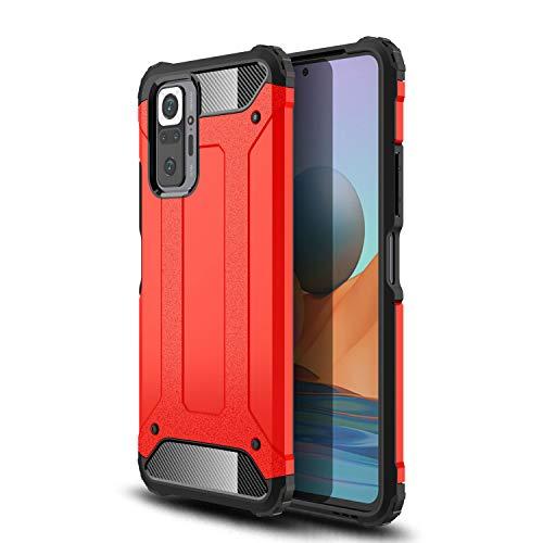 Dedux Armadura Dura Funda para Xiaomi Redmi Note 10 Pro. Rojo