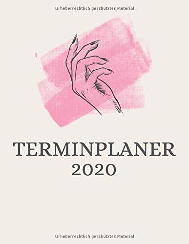 Terminplaner 2020: Terminbuch Nagelstudio oder Kosmetikstudio mit viertelstündiger Einteilung für Termine | Tagesplaner Januar bis Dezember 2020 | Von 7.00 Uhr bis 20.00 Uhr