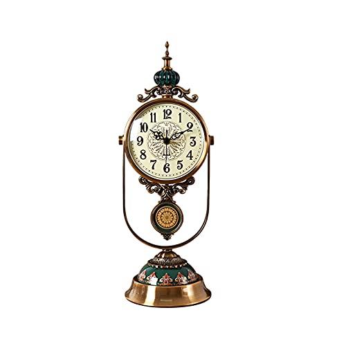 GUOQI Modern spiselklocka, dekorativ klocka, tyst urverk, brutet mönster keramik, kopparpläteringsprocess, lämplig för vardagsrum, studierum, kontor, etc. C