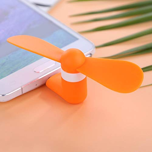 Orange Portable Tablet USB Type-C Mini Fan Cooler Compatible With Samsung Galaxy Tab S4 (LTE)