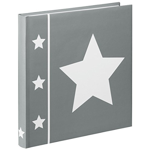 Hama Fotoalbum Skies, Jumbo Album mit 60 Seiten, für 240 Fotos im Format 10x15, Stern Motiv, 30x30,...