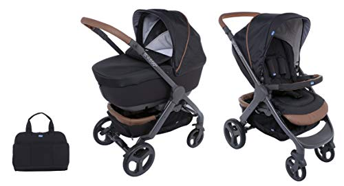 Chicco Duo Stylego Up Crossover (Sportwagen + Kinderwagenaufsatz), pure black