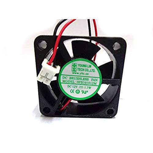 SCYHGLM Cooling Fan for DFS301012M 3cm 12V 1.3W 2Wire,Miniature Mute Heat Dissipation Equipment Fan DFS301012M 30x30x10mm 2Wire