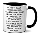Funny Brother Gifts - Gag Coffee Mugs for Brothers - Best Bro Birthday Present - Adult Humor Cups with Quotes (11oz, black handle)