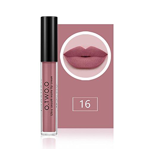 O.TWO.O Gloss aux lèvres Lisse à lèvres hydratant et hydratant à lèvre longue 12 Paquet de couleur de 1