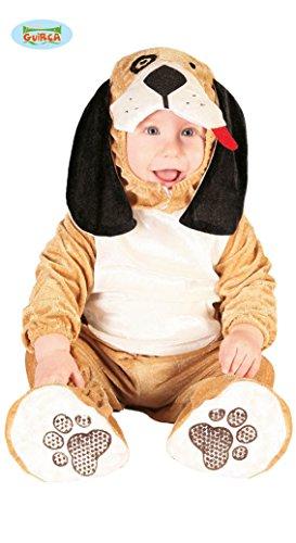Guirca Costume da Cane Cagnolino per Bebè, Colore Marrone Chiaro, 0-12 Mesi, 82620