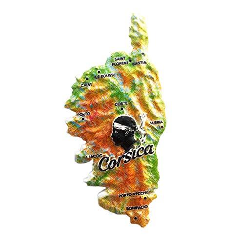 3D Korsika Frankreich Kühlschrank Kühlschrankmagnet Tourist Souvenirs Handmade Harz Handwerk Magnetischen Aufkleber Home Küche Dekoration Reise Geschenk