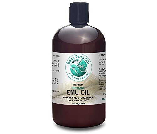 Emu Oil 16 oz 100% Pure Fully Refined Organic Undiluted - Bella Terra Oils