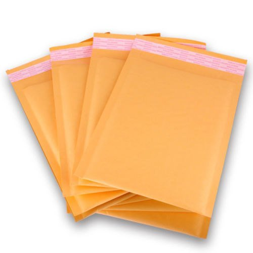 Price comparison product image Oknuu Kraft Bubble Mailers 000 4 x 8-inch,  Pack of 50 Bubble Padded Envelopes Padded Mailers Self-Sealing Bubble Envelopes Mailing Padded Pouches for Fragile Shipping Non-Tear Lightweight