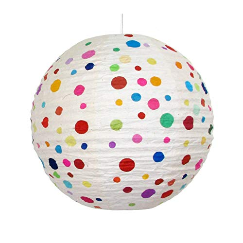 mitienda mit Liebe gemacht Lampenschirm Rimini - Kinder, Kinderzimmerdeko, Deckenleuchte, Leucht,Papierlampenschirm, Kinderlampe, Pendelleuchte Für Kinder, Kinderzimmer Lampe, Kinder Lamp