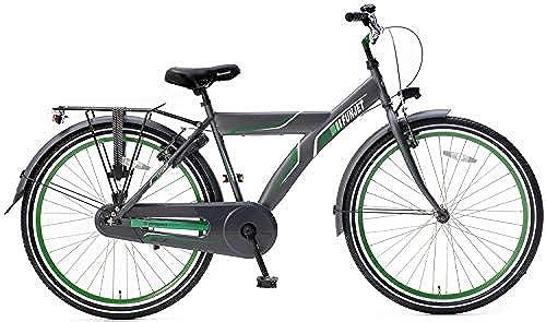 Unbekannt 26 Zoll Herren Cityrad Popal Funjet X 26178 ohne Schaltung, Farbe grau-Grün
