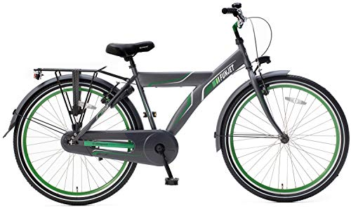 POPAL 26 Zoll Herren Cityrad Funjet X 26178 ohne Schaltung, Farbe:grau-grün
