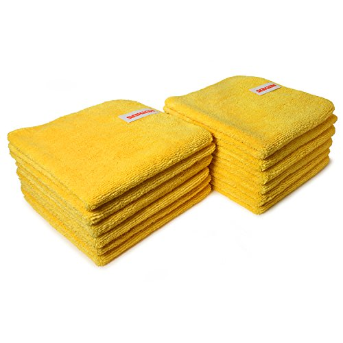 Mothers 90-90004 Professional Grade Premium Microfiber Towels, Gold, (Pack of 12)