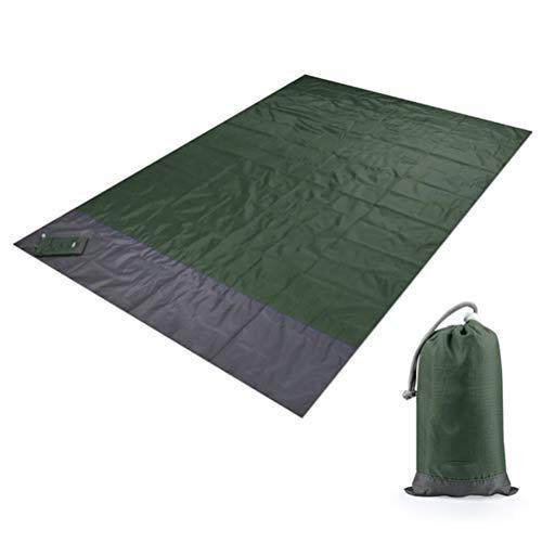 Aiglen 2 M * 1,4 M Manta de Playa Impermeable al Aire Libre Estera de Picnic portátil Colchoneta de Tierra para Acampar Colchón Cama para Acampar Almohadilla para Dormir (Color : Green-200x140cm)